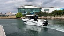 New Barracuda 9 on test in Plymouth. Come and see the last one available this year at Southampton Bo