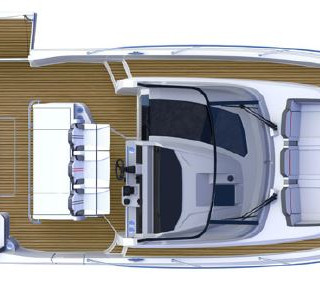 Deck Layout - Cap Camarat 12.5 WA Jeanne