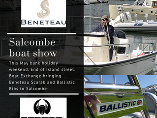 Salcombe Boat Exchange Boat Show this May Bank Holiday weekend.