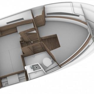 MArlin 895 Altantic yachts interior cabi
