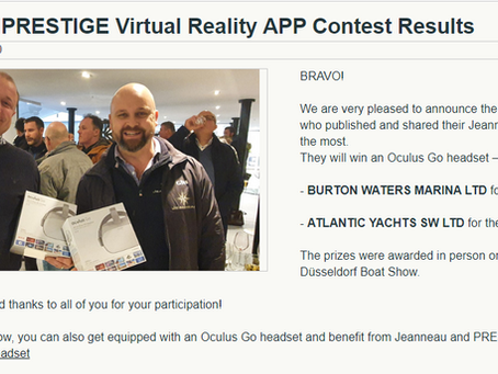 Award winning Atlantic Yachts Win 1st Prize for their Online Blog and News posts.