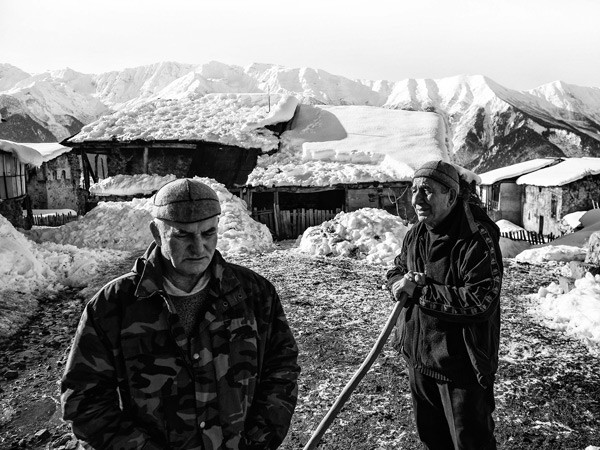 Shota and Kandit in Svaneti Mountains, Georgia