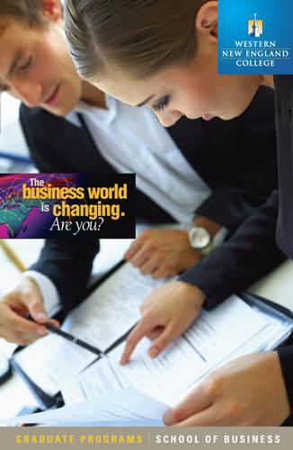 Viewbook for graduate programs at WNEC School of Business