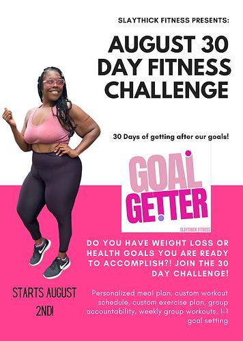 August 30 Day Challenge