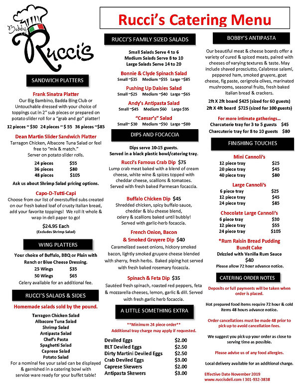 Ruccis Catering Menu Page 2 Nov 2019.JPG