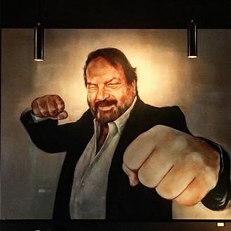 Bud Spencer • 180 x 160 cm • oil on canvas  http://www.pizzarandale.com/