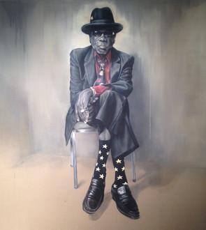John Lee Hooker • 200 x 220 cm • oil on canvas