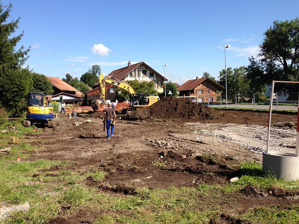 Alterswohnung Uttigen Sägeplatz Baubeginn