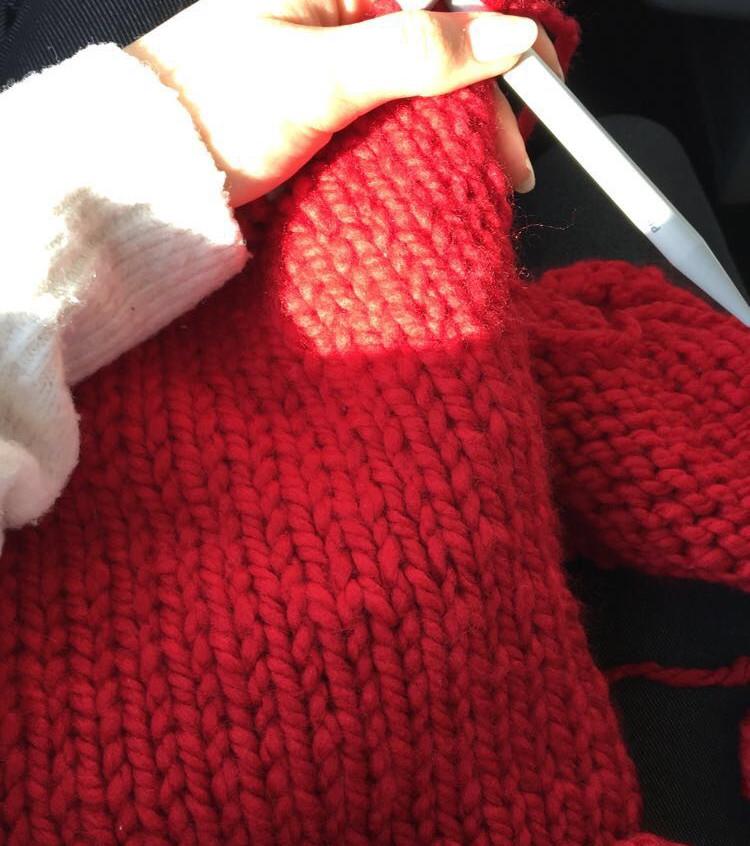 201808_Saskia Work in Progress Knitting