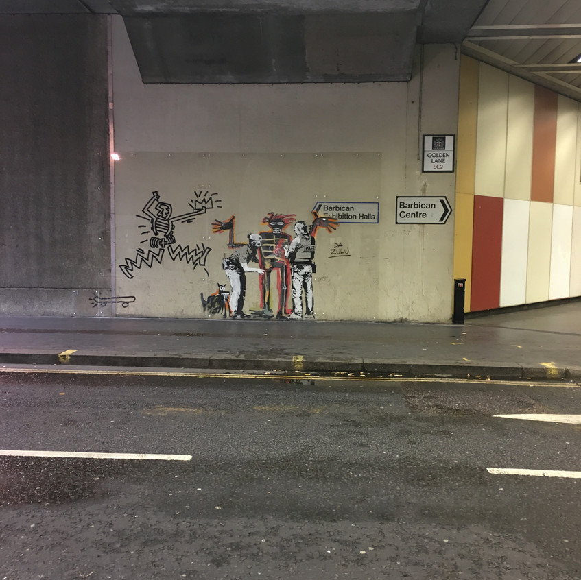 201712_Basquiat and Banksy at Barbican - Laurie