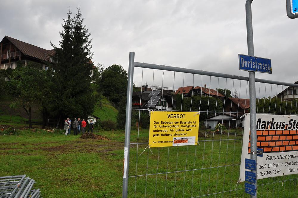 Alterswohnung Uttigen Sägeplatz Einrichtung Bauplatz