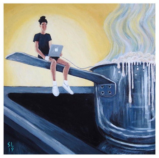 'CHOWDER', Acrylic on Canvas, 2019