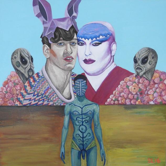 'ALIEN LOVE', Acrylic on Canvas, 2016