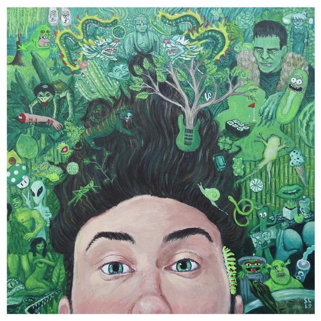 'GREENLAND', Acrylic on Canvas, 2019