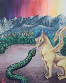 'Griffin Meets Snake'