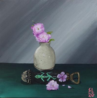 'Still Life with Flowers & Bottle Opener'