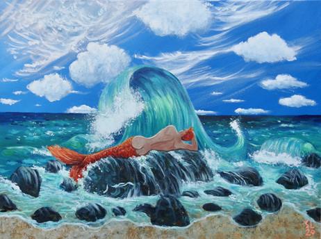 'Rogue Wave', 18x24, Acrylic on Canvas, 2020