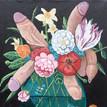 'Floral Arrangement', Acrylic on Canvas, 2018