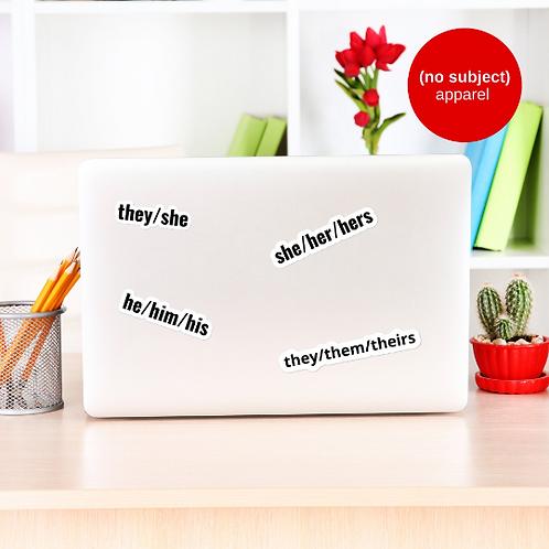 Custom Pronouns Sticker