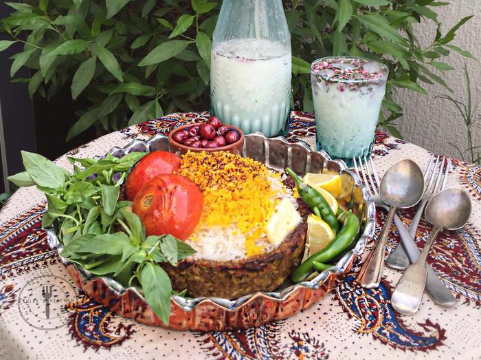 Persian Kebab Bowl with Saffron Rice Recipe