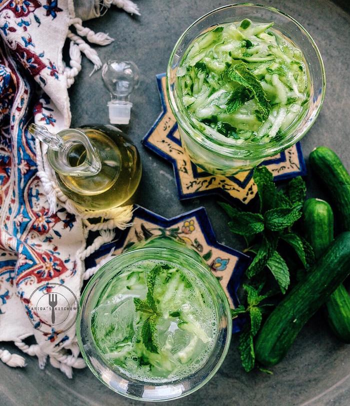 Sekanjabin (Persian Mint & Cucumber syrup)