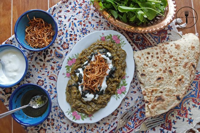 Persian Eggplant Dip (Kashk Bademjan)