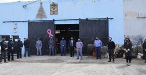Santa Cruz: Seguridad entregó equipamiento a las áreas logísticas y de costura de la Policía
