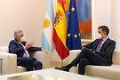 Alberto Fernández se reunió con el Rey Felipe VI de España y el presidente Pedro Sánchez