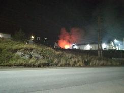 Ushuaia: Incendio en la Base Naval
