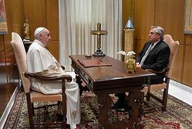 Durante media hora: El Presidente se reunió a solas con el papa Francisco en el #Vaticano