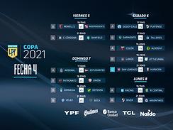 Se juega la cuarta fecha de la copa de la Liga Profesional