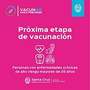 Santa Cruz: Habilitan turnos para personas mayores a 25 años con enfermedades graves