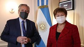 """Alberto Fernández y Georgieva: Una reunión """"muy constructiva"""" con la titular del FMI"""