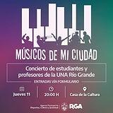 Río Grande: Esta noche se viene un nuevo concierto de música en la casa de la cultura