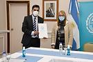 Santa Cruz: Gobernadora recibió a intendente de 28 de Noviembre para trabajar en proyectos en común