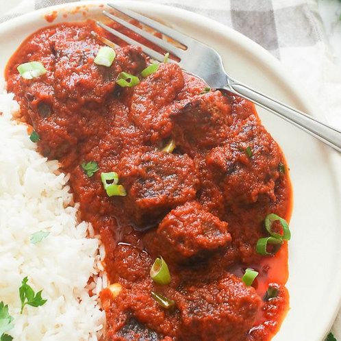 White rice and stew