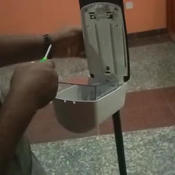 Display and installation of industrial dispenser in Abuja