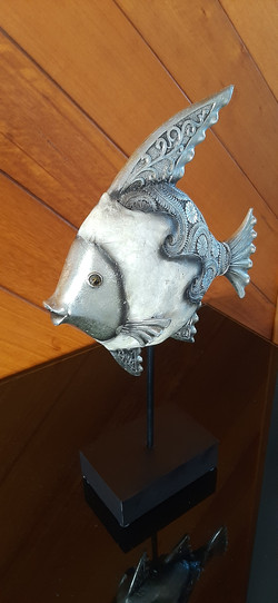 Silver and Mother of Pearl Fish