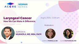 Laryngeal Cancer. How We Can Make A Difference.