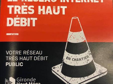 Partout, pour tous, la fibre optique arrive dans les périphéries de Gironde !