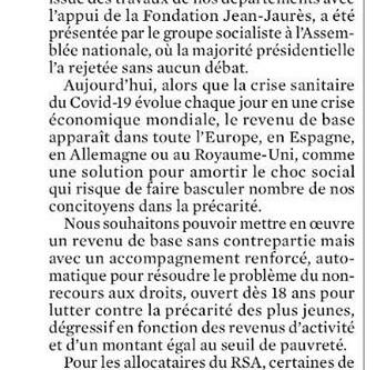 Le revenu de base : une solution solidaire pour préparer le choc social à venir !