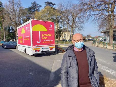 Première étape du vacci'bus départemental cette semaine à Marcheprime !
