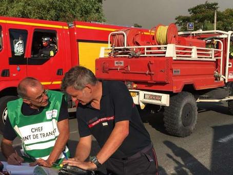 Nos sapeurs-pompiers en première ligne...