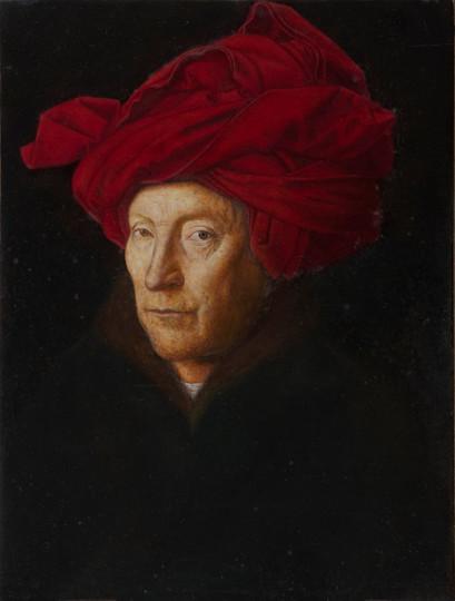 Uomo con turbante rosso