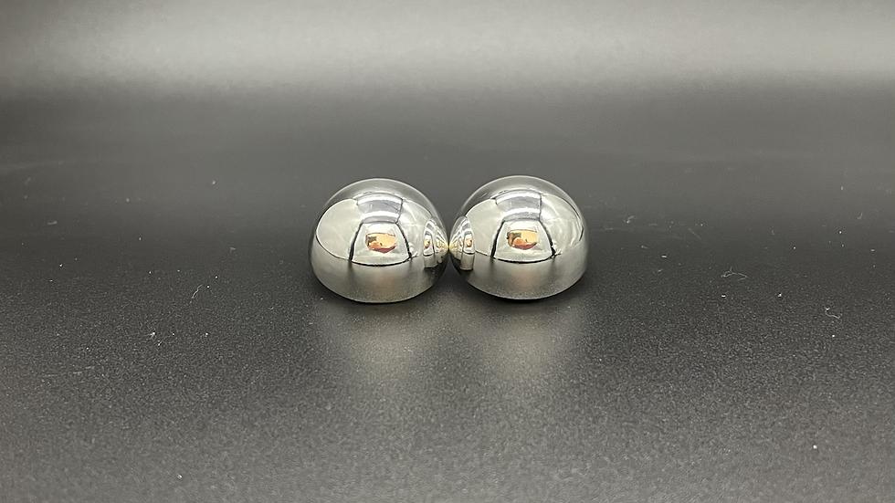 Ohrclip Halbkugel poliert 25mm