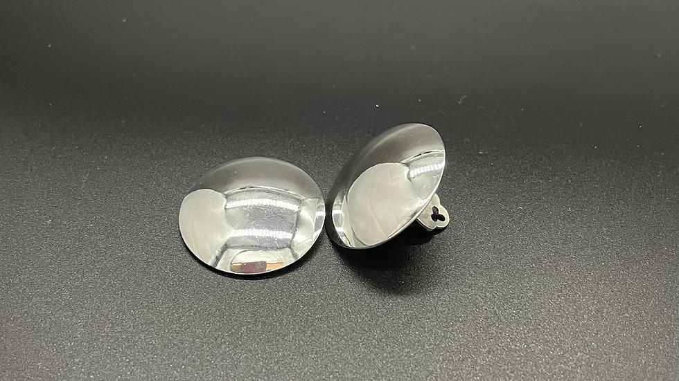 Ohrclip Rund flach poliert 28mm