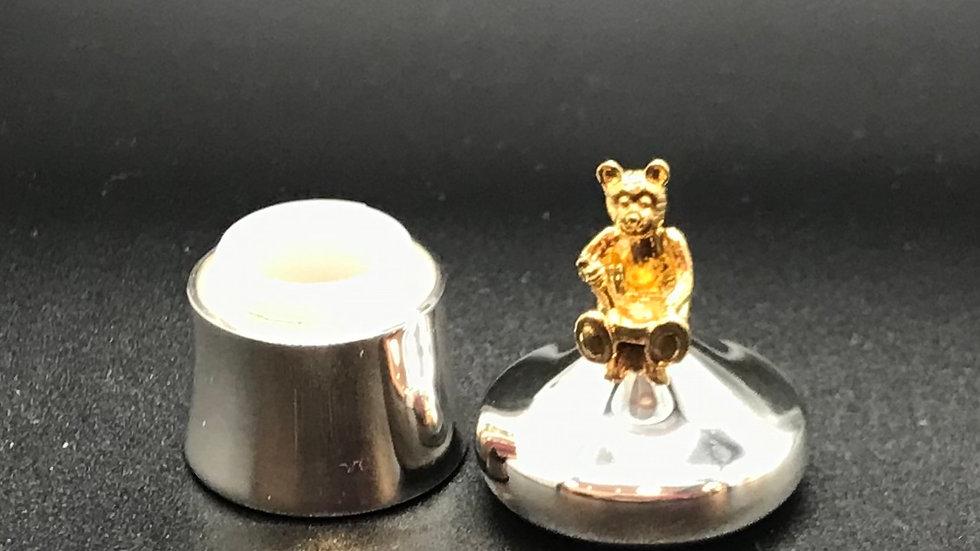 Zahndose Bär vergoldet
