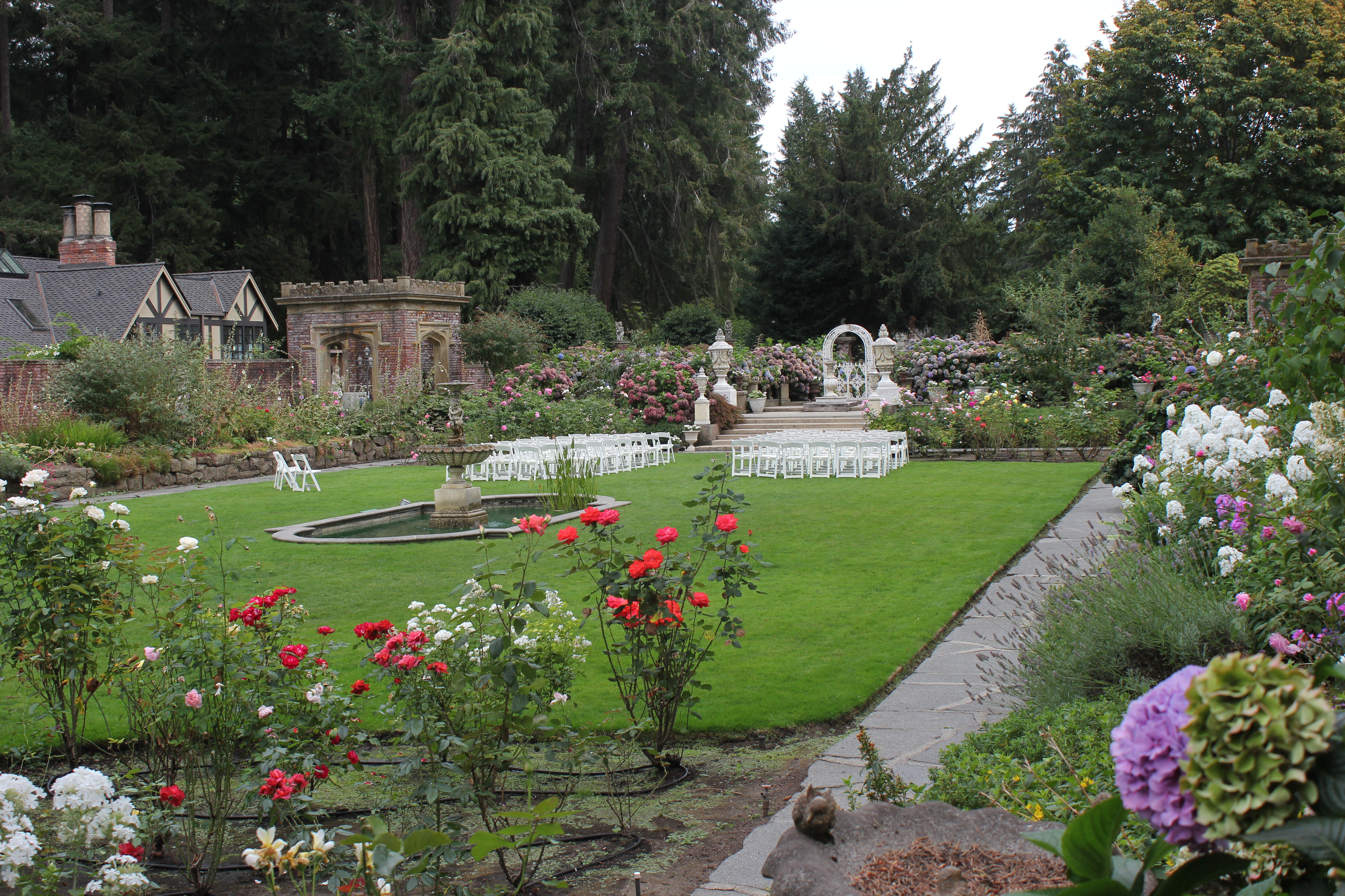 Rose Garden at Thornewood Castle