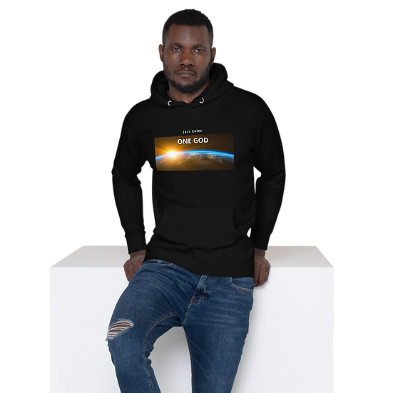 One God - Unisex Hoodie, widescreen style