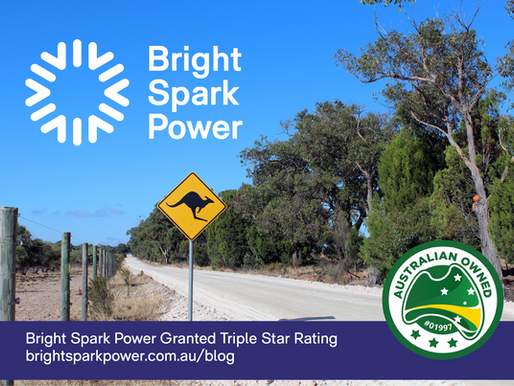 Bright Spark Power Granted Triple Star Rating